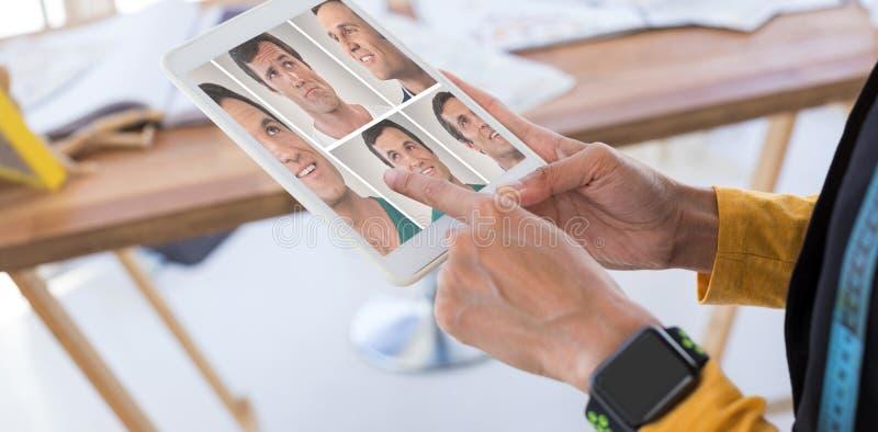 人拼贴画画象唯一5的综合图象 免版税库存图片