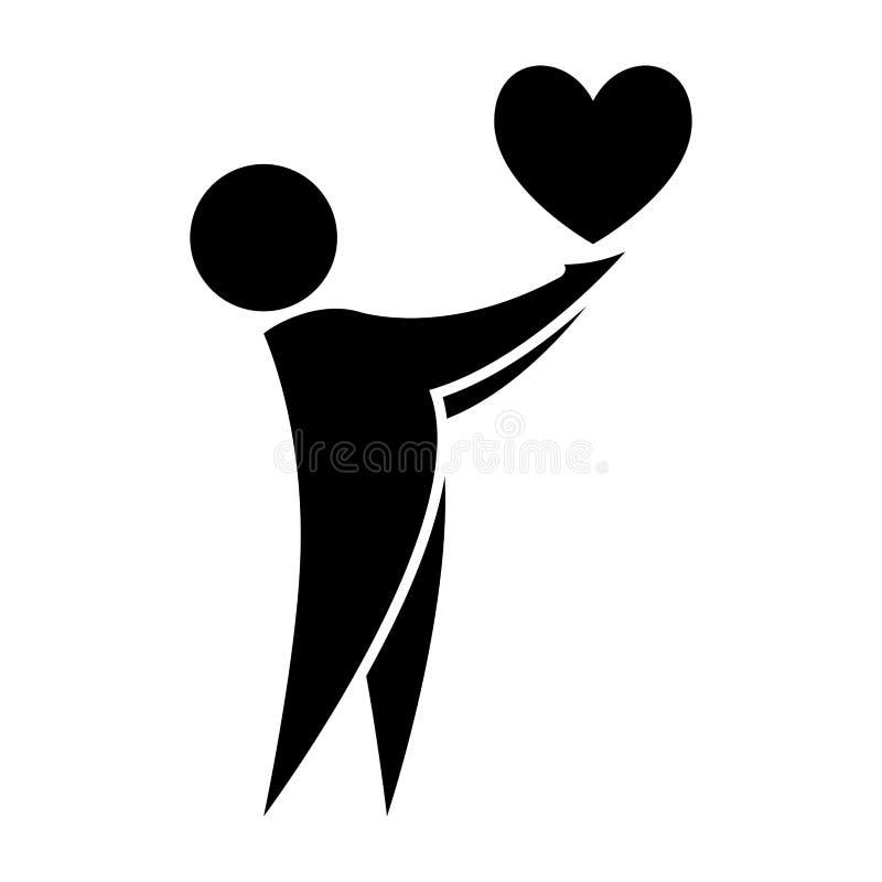 人拿着在他的手象的心脏 心脏在人手上 E r 皇族释放例证
