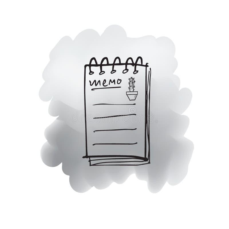仙人掌笔记动画片线描 皇族释放例证