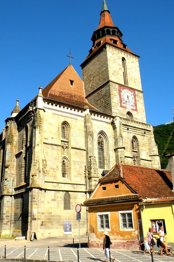 黑人教会在布拉索夫, Transilvania 免版税库存照片