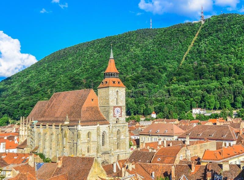 黑人教会在布拉索夫-特兰西瓦尼亚,罗马尼亚 免版税库存图片