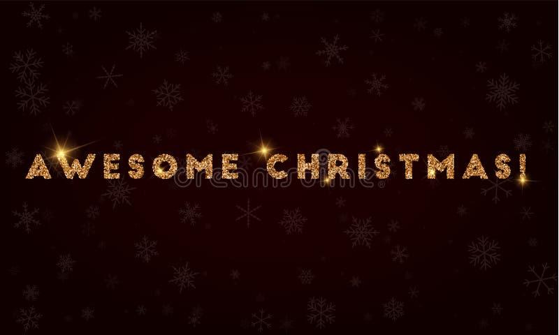 令人敬畏的圣诞节! 向量例证