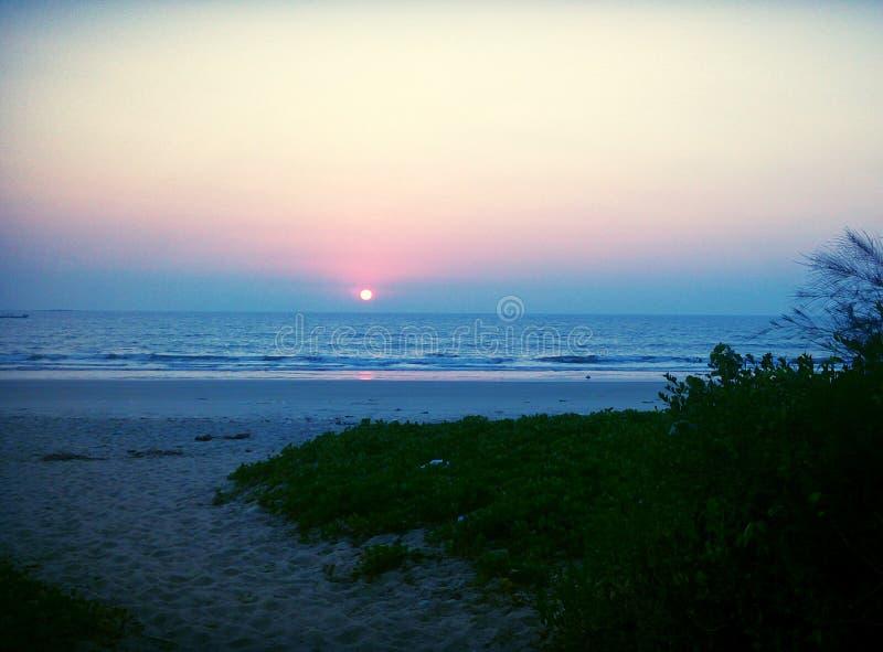 令人敬畏的Gangolli海滩 图库摄影