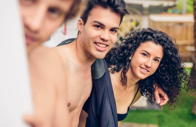 人有的泳装的funoutdoors 免版税库存照片