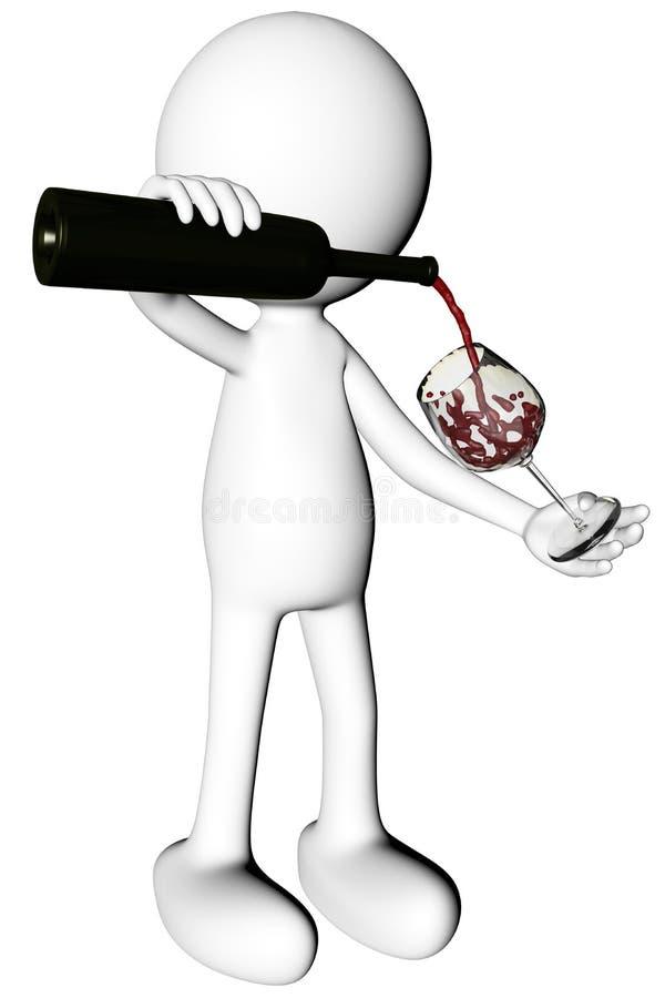 人服务的杯酒 向量例证