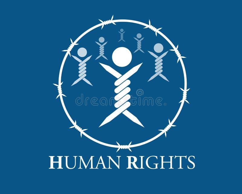 人权 向量例证