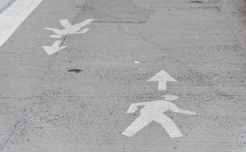 人横穿路标志。 图库摄影