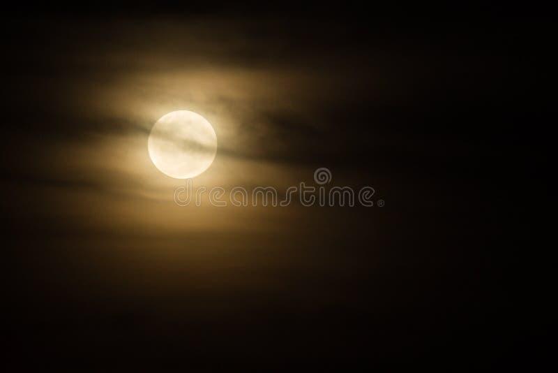 令人毛骨悚然的月亮 免版税库存图片