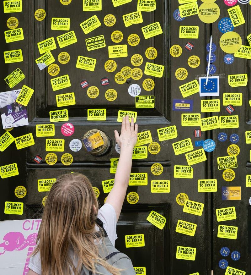 人民的表决3月在伦敦 免版税库存图片