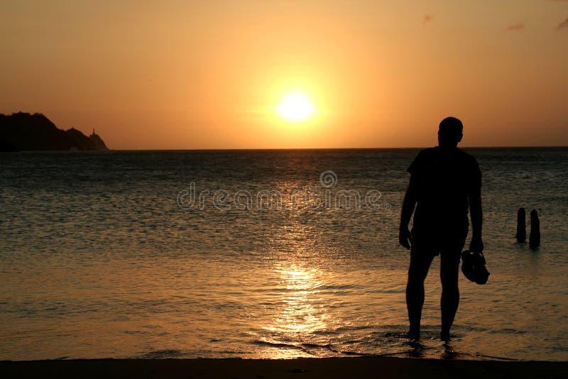 人注意的日落 免费库存图片