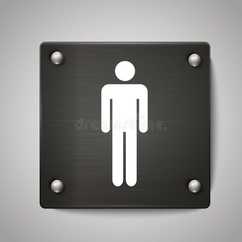 人洗手间象标志有黑背景 皇族释放例证