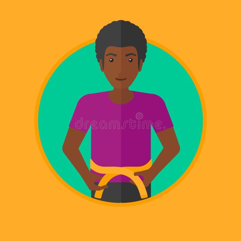 人测量的腰部传染媒介例证 向量例证