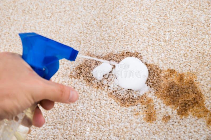 人清洁地毯 免版税图库摄影