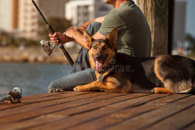 人渔 库存图片