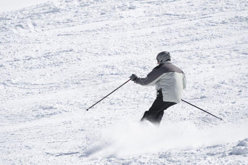 人滑雪冬天 免版税库存照片
