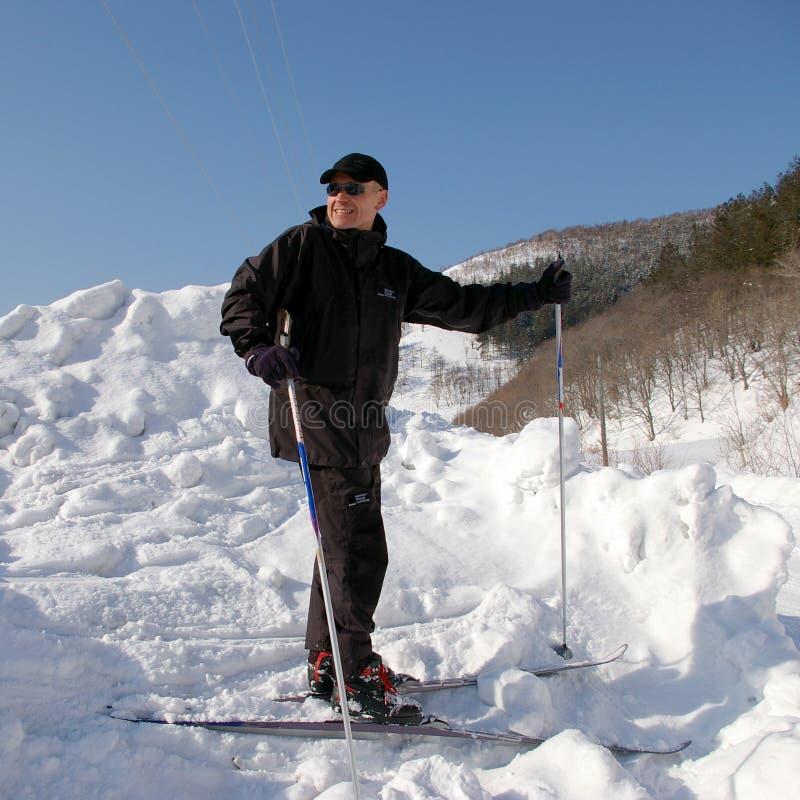 人滑雪者 免版税库存照片