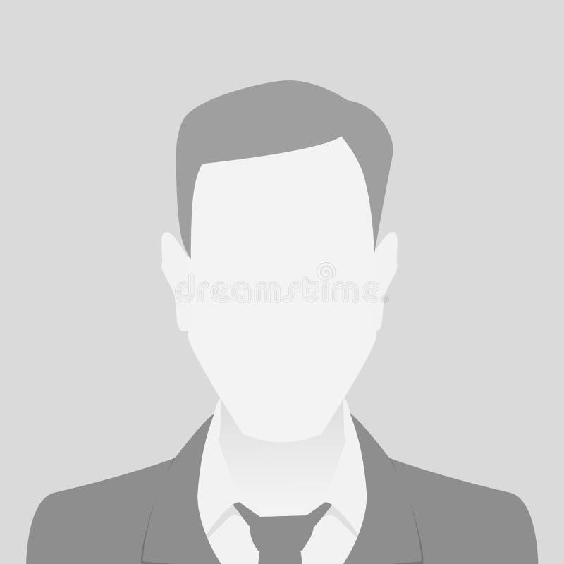 人灰色照片占位符人物质设计 皇族释放例证