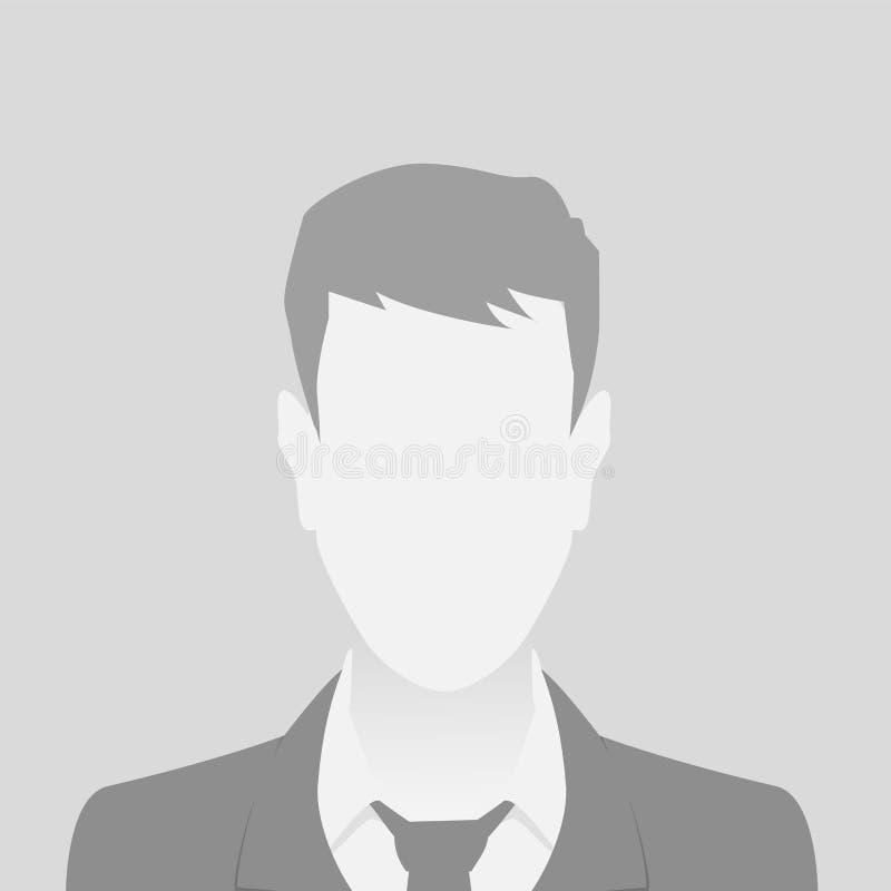 人灰色照片占位符人物质设计 库存例证