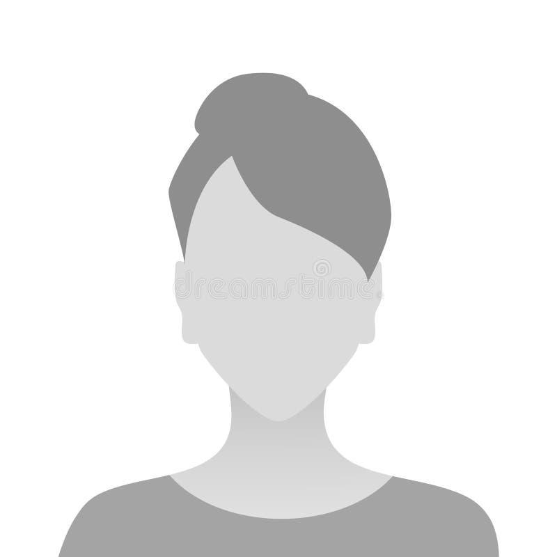人灰色照片占位符女孩物质设计 皇族释放例证