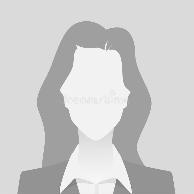人灰色照片占位符女孩物质设计 向量例证