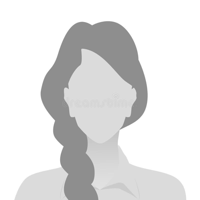 人灰色照片占位符妇女 库存例证