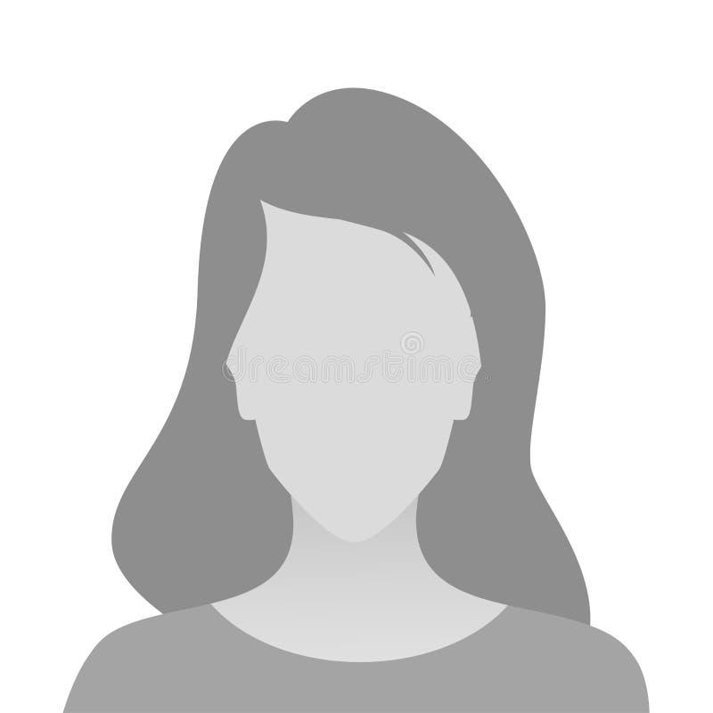 人灰色照片占位符妇女 皇族释放例证