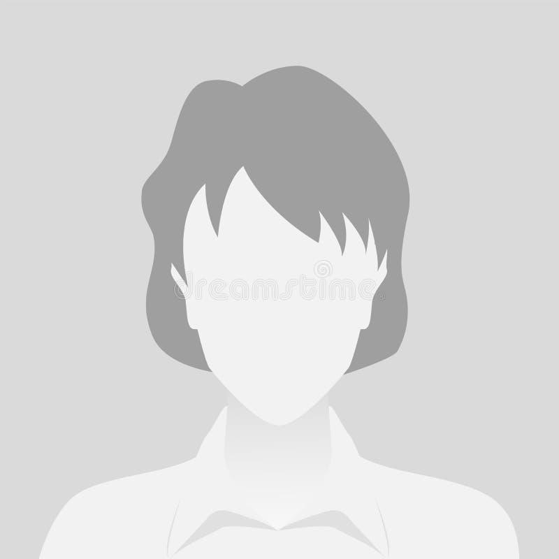 人灰色照片占位符妇女 向量例证