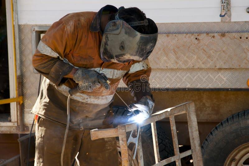 人焊接 免版税库存图片