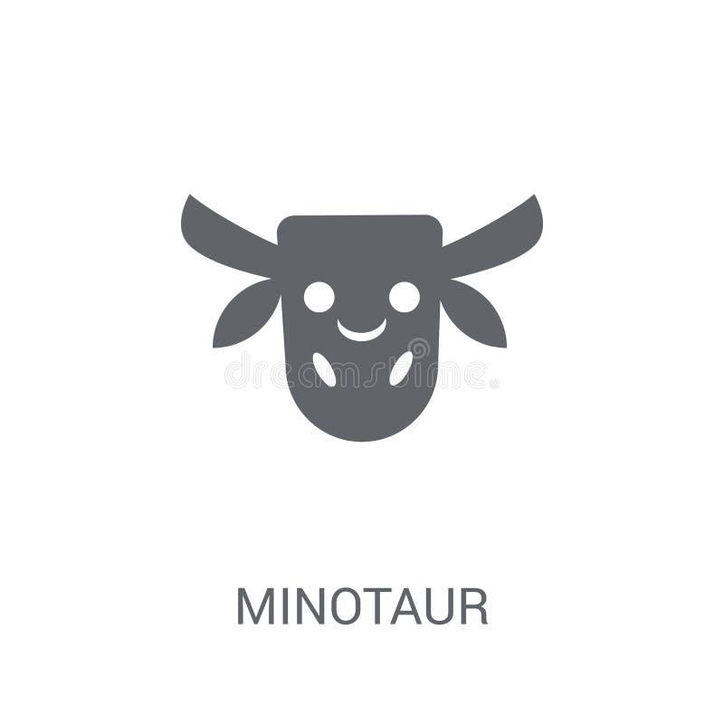 人牛怪象 在白色背景的时髦人牛怪商标概念 库存例证