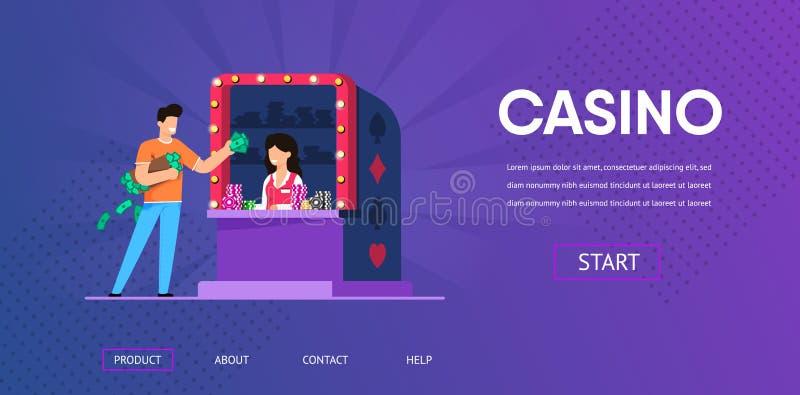 人现金金钱购买赌博娱乐场从妇女出纳员切削 皇族释放例证
