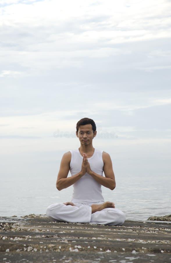人瑜伽 免版税图库摄影