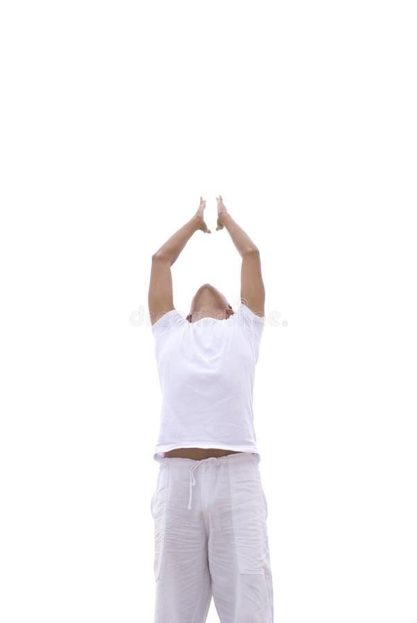 人瑜伽 图库摄影