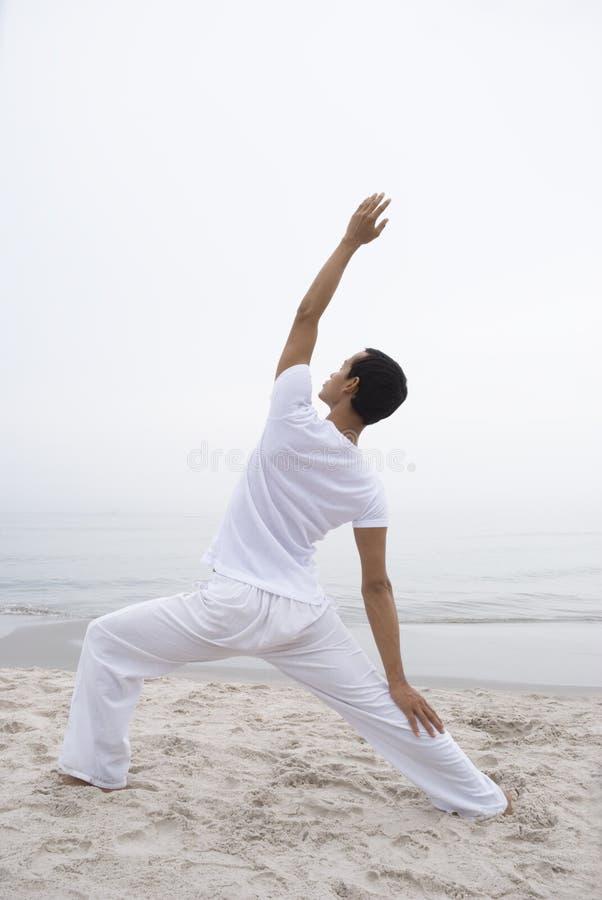 人瑜伽 库存照片