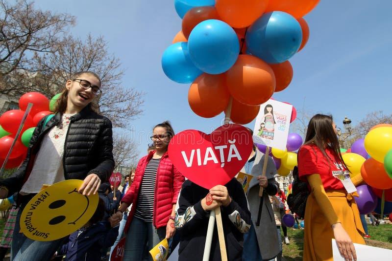 人生的布加勒斯特的,罗马尼亚3月 免版税库存图片