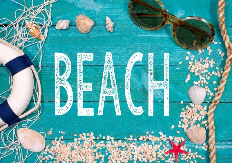 人生的海滩节日快乐 库存图片