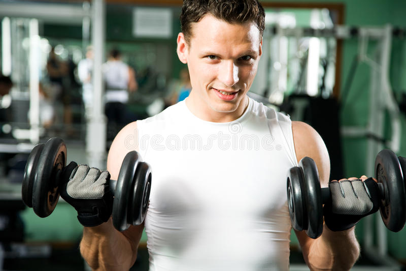 人用重量训练器材 免版税库存图片