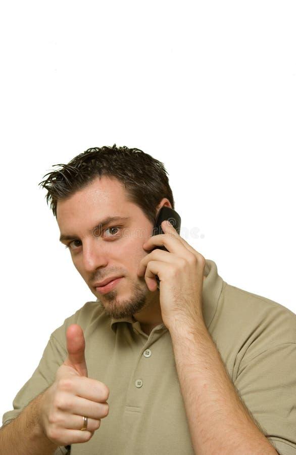 人电话赞许 库存照片