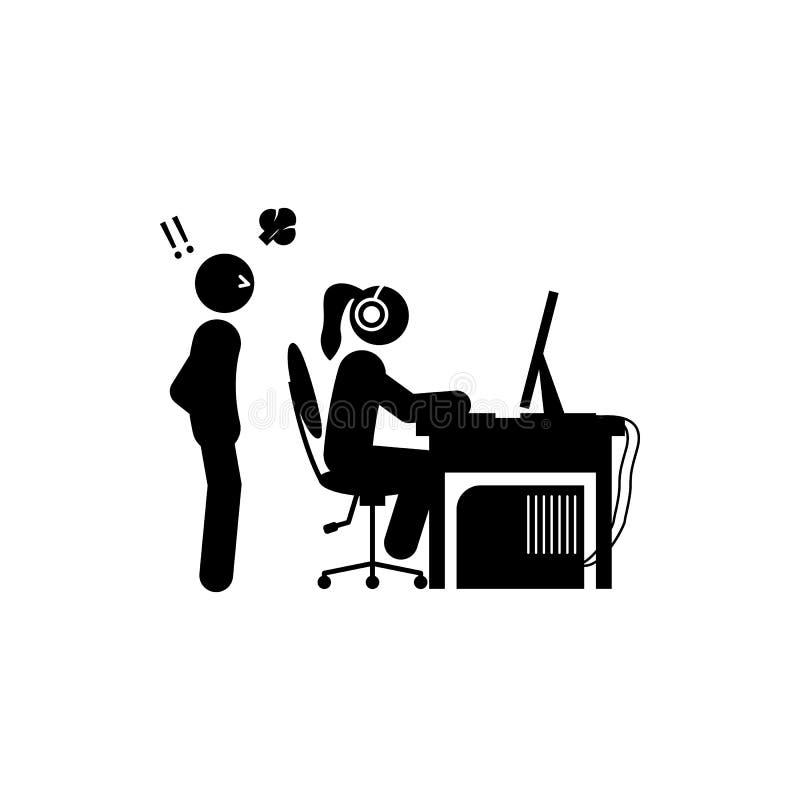 人瘾象 游戏玩家象的元素流动概念和网apps的 纵的沟纹人瘾象可以为网和机动性使用 库存例证