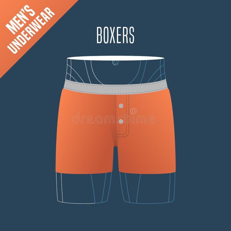 人的内衣,短裤传染媒介例证 库存例证