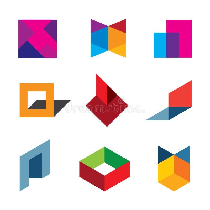 人的创造新的五颜六色的世界商标象的创造性和创新 向量例证