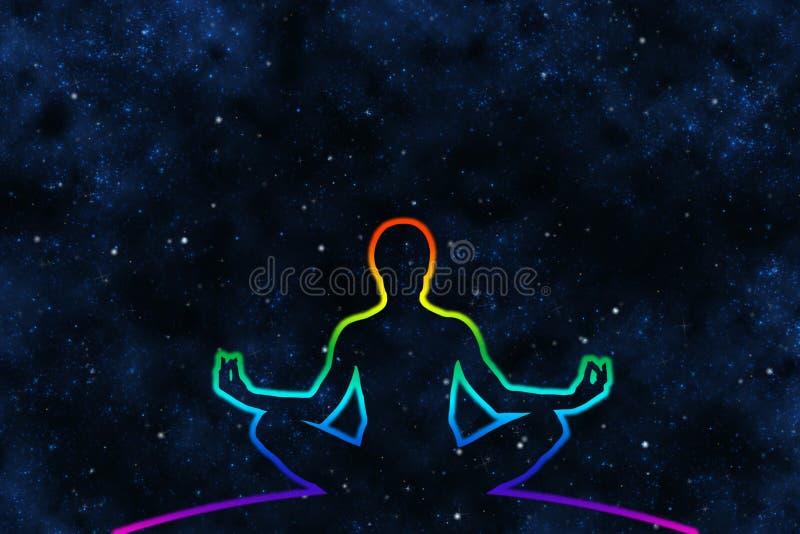 人的宇宙Medidation 免版税图库摄影