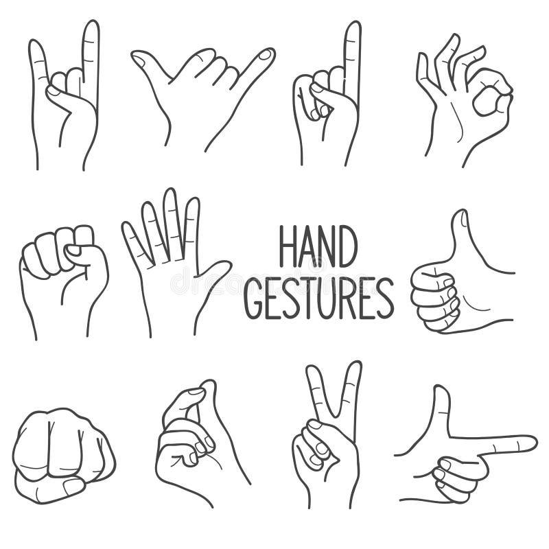 人的手势 库存例证