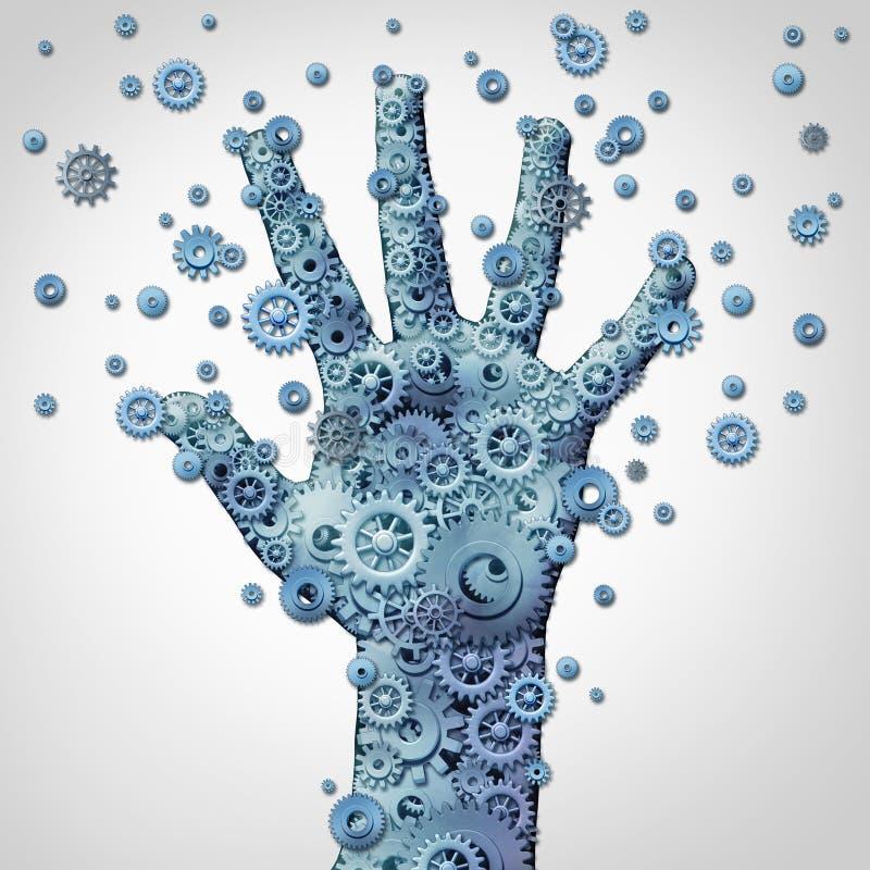 人的手技术 向量例证
