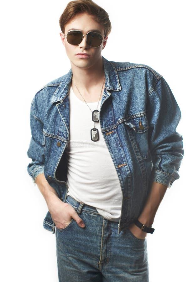 年轻人的时尚画象 免版税库存图片