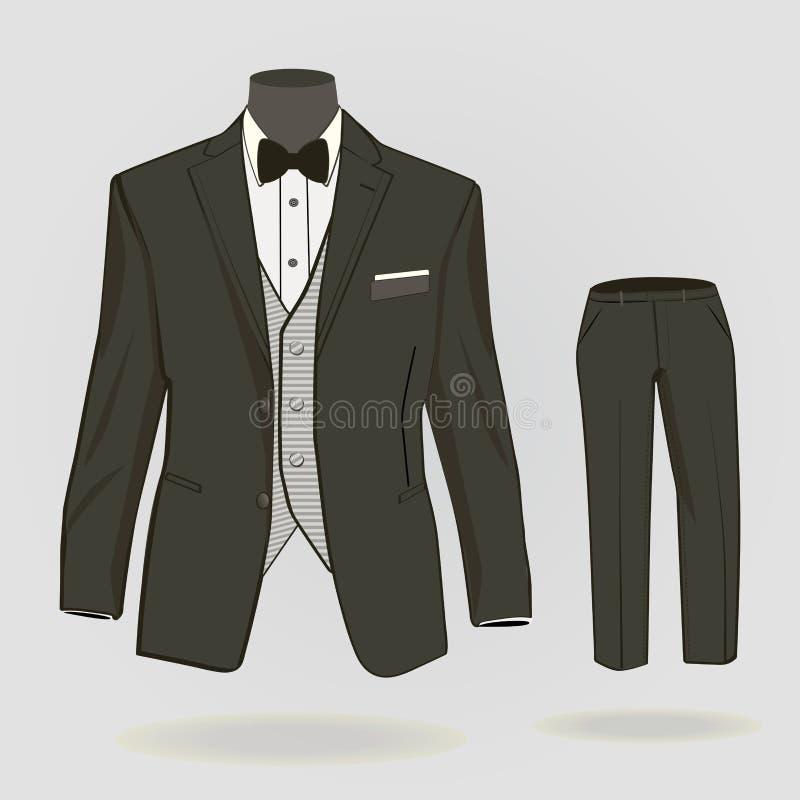 人的正式衣服 库存例证