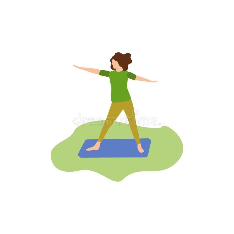 人的爱好瑜伽 向量例证