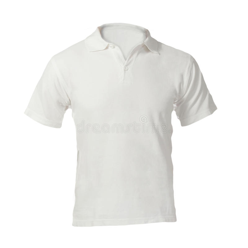 人的空白的白色球衣模板 免版税图库摄影