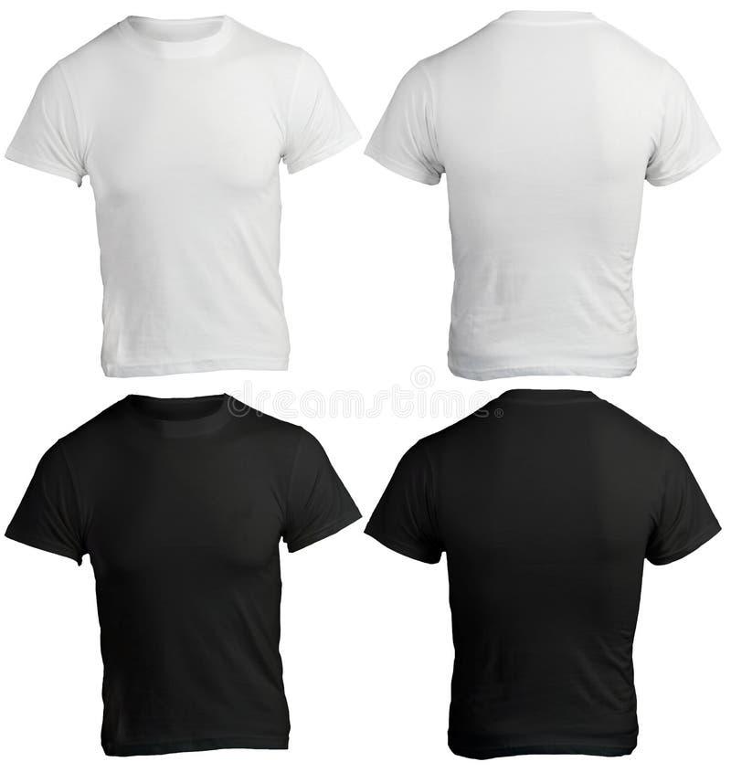 人的空白的黑白衬衣模板 库存图片