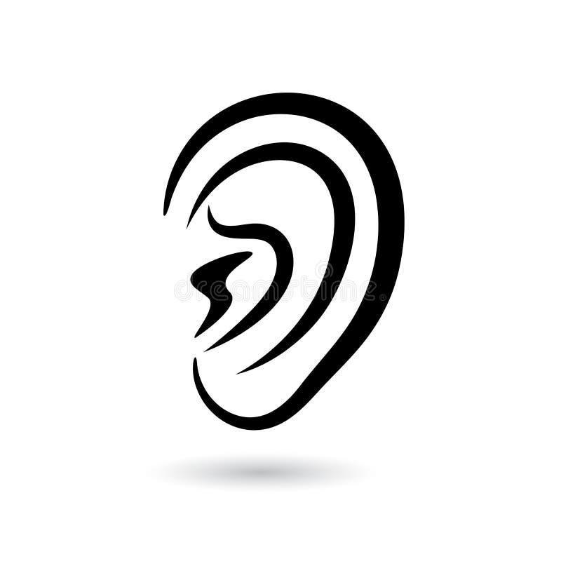 人的耳朵传染媒介象 向量例证