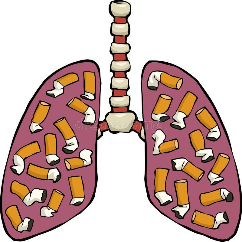 人的肺烟灰缸 库存例证